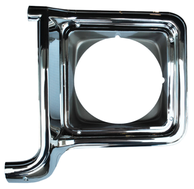 K5 Blazer - 1973-1991 - 73-'78 CHEVROLET PICKUP HEADLIGHT DOOR CHROME/DRK ARGENT DRIVER'S SIDE