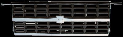 Pickup - 1988-1998 - 88-'91 CHEVROLET BLAZER GRILLE CENTER, CHROME/SLVR, W/DUAL H/L