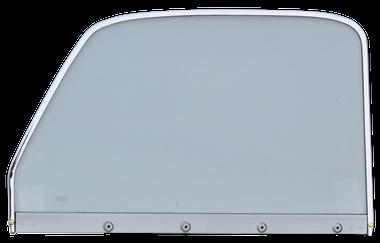 Pickup - 1947-1954 - '47-'50 CHEV/GMC P/U WINDOW GLASS ASSY CLEAR GLASS WITH CHROME TRIM DRIVER'S SIDE
