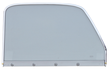 Pickup - 1947-1954 - '47-'50 CHEV/GMC P/U WINDOW GLASS ASSY CLEAR GLASS WITH CHROME TRIM PASSENGER'S SIDE