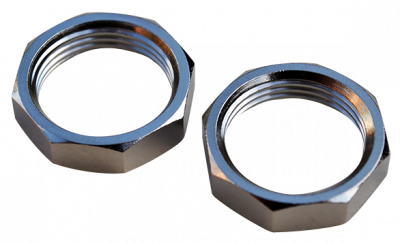 47-'59 CHEVROLET/GMC PICKUP WIPER RETAINER NUTS, CHROME, 2PC - Image 2